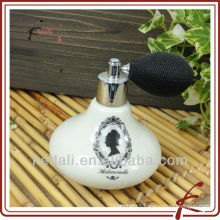 Lady ceramic perfume bottle
